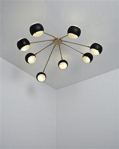 Angelo Lelli, Ceiling light for Arredoluce, 1955.