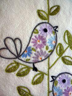 Retro Birds by Melys Hand-Embroidery, via Flickr