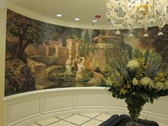 Mural in the front entrance to the Broadmoor Spa. Lovely.i loooove my work!