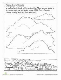 Cumulus Clouds Worksheet