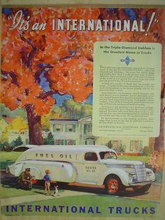 1939 ad International Trucks Rogers Oil Co