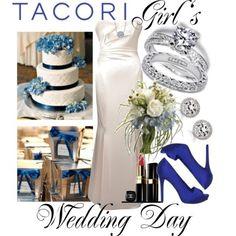 Winter Blue Wedding Collage
