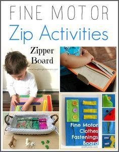 Fine Motor Zip Activities | Racheous - Lovable Learning