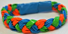 duck tape bracelet summer colors - so just how many of these have I made in the last year......