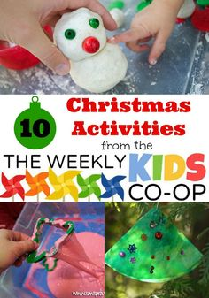 Mess For Less: 10 Christmas Activities and The Weekly Kids Co-Op Link Party
