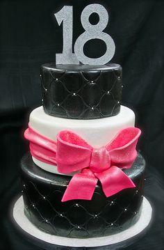 Girly 13th Birthday cake