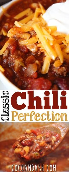 "This chili is the best chili you will ever eat...period! <a class=""pintag"" href=""/explore/chili/"" title=""#chili explore Pinterest"">#chili</a>"