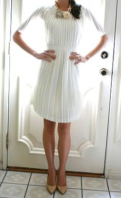 Repurposed pleated skirt. Love!