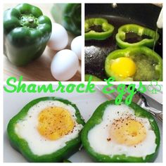 Shamrock Eggs for St. Patrick's Day Facebook.com/ConfessionsOfaDomesticGoddess