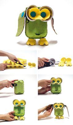How to make egg carton owl Pinned by www.myowlbarn.com