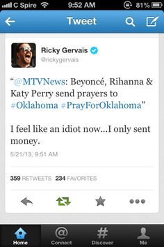 Ricky Gervais nails it again.