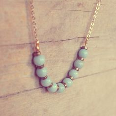 Collana di pietre di amazzonite ~ Amazonite necklace #DIY - di AmeJewels via it.dawanda.com