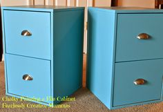 Chalky Paint Finish File Cabinet transformation.
