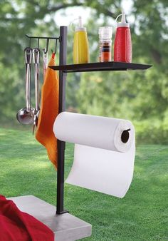 Dad will love this grill-side organizer.