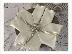 Video: Fold a Snowflake Napkin holiday, snowflak napkin, folding napkins, fold napkin, napkin folding, entertain, christma, parti, cloth napkins