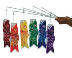 In the Breeze 6-Pack Koi Fish Wand, 12-Inch, Red/Orange/Yellow/Green/Blue/Purple