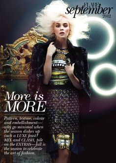 More is More | Chris Nicholls #photography | Flair Magazine September 2012