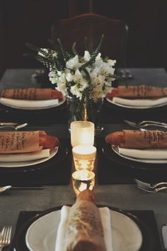 Beautiful table setting.