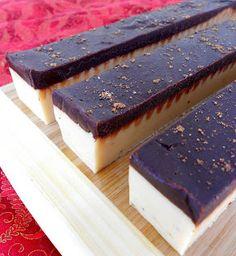 Eggnog Fudge with Dark Chocolate Ganache