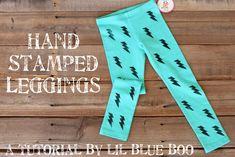 hand stamped leggings