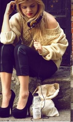 love that chunky sweater