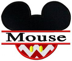 Split Mouse Applique Embroidery Design by CuteByKira on Etsy, $3.50