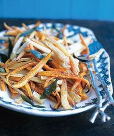 Roasted Parsnips and Carrots With Sage recipe