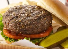 Montreal Steak Seasoning gives regular burgers a kick of flavor. Serve with havarti or blue cheese.