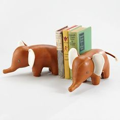 Kids' Desk Accessories: Classic Elephant Animal Bookend in Bookends