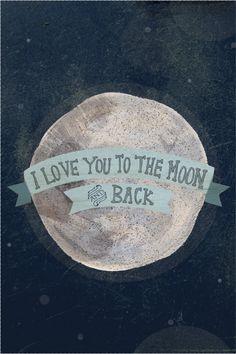 I love you to the moon 12 x 18 art print.