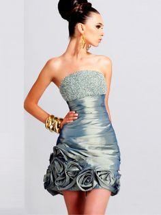 2011 Style Empire Strapless Sleeveless Short / Mini  Taffeta  Bridesmaid / Cocktail Dresses / Homecoming Dresses