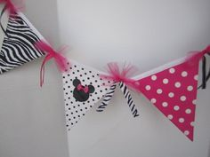 Minnie Mouse Zebra Party Decoration or Minnie Mouse by FavorWrap