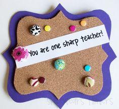 teacher gifts, pin boards, gift ideas, bulletin boards, teacher appreciation gifts, cork boards, dollar store crafts, craft blogs, teachers