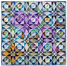 Heart of the Storm, 16 x 16, by John Flynn, for the Alzheimer's Art Quilt Initiative as seen at Quilt Inspiration