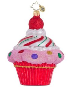Christopher Radko Christmas Ornament, Cupcake