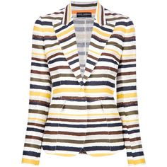 DOLCE & GABBANA multi-coloured stripe blazer ($1,210) ❤ liked on Polyvore