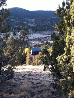 The Prineville house from way up top on Indian Rock