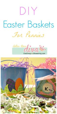 DIY Easter Basket Ideas for Pennies! | Dollar Store Diva #Easter
