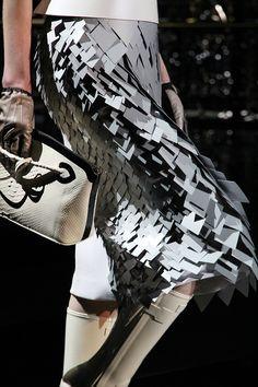 Louis Vuitton.....silver textured skirt
