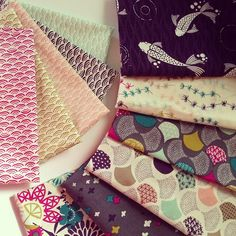 Koi StrikeOffs!!! Didnt think it was possible for a first run to be so spot on perfect! #Koi #cloud9fabrics by ♥rashida coleman-hale♥, via Flickr