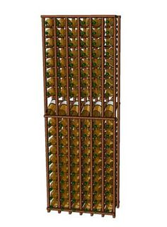 "Premium Series 6 Column Individual Bottle Wine Rack from WineRacks.com Starting at: $340.00    Dimensions: 27 3/4"" wide x 78"" high x 12 3/8"" deep  Capacity: 114 Bottles  Available in: Mahogany, Oak, Lyptus & Pine    This rack is constructed of solid wood with no stain/finish and will hold up to a standard champagne-size 750ml bottle.  Features a display row to show off your wine lables and  2 1/2"" ""legs"" to allow for attaching toe kick molding. Rack is shipped partially assembled."