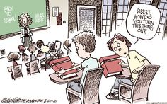 """Love this """"Back to School"""" Mike Keefe cartoon from 2010... - csh"""