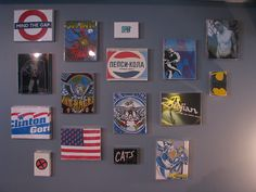 turn old t-shirts into wall art
