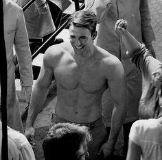 short, chris shirtless, chris evans shirtless, captain america, stare