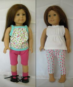 Old Days - Old Ways: Dollar Doll Clothes--from underwear!! free pattern / tutorial for american girl doll shorts  / pants / pajamas