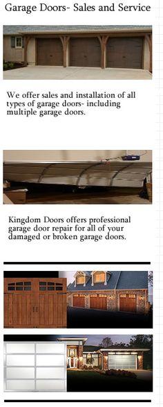 Kd kingdom garage doors installed by us on pinterest for Brentwood garage door