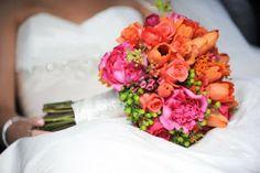 Orange, Fuchsia, and Chartreuse | Flora Nova Design - The Blog orang, summer bouquet