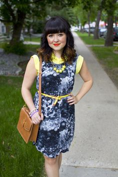 galaxy prints, neon & @31 Bits necklace via Kastles
