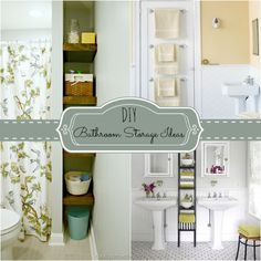 DIY bathroom storage ideas. Get organized in the bathroom.