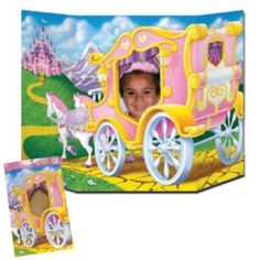 Princess Carriage Photo Prop.  Love these photo prop ideas at a Princess Party.